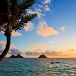 Image of a Lanikai beach at sunrise.
